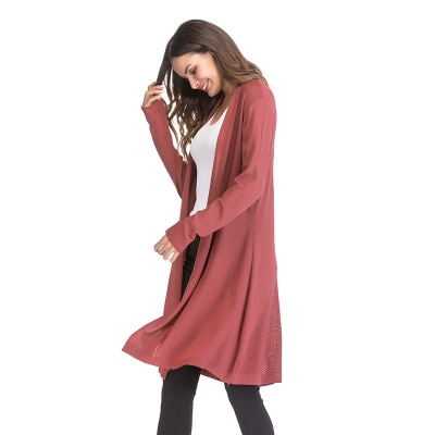 Autumn Winter Knitted Maternity Sweaters Dress Clothes for Pregnant Women Fall Elegant Pregnancy Sweaters coat enlarge