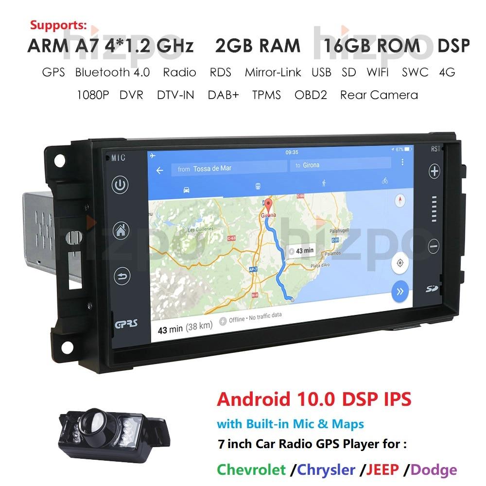 1 din Android 10,0 coche reproductor Multimedia para Dodge calibre/viaje/Challenger/Dakota/Durang/vengador/Ram camioneta serie Chevrolet