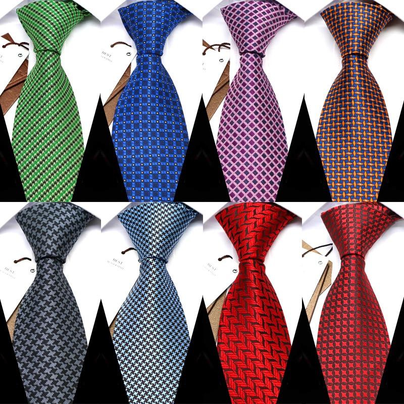 YISHLINE 8CM  Men Tie Fashion Classic Business Necktie Mens Casual Ties Wedding Party Designer Corbatas Para Hombre Gift Ties недорого