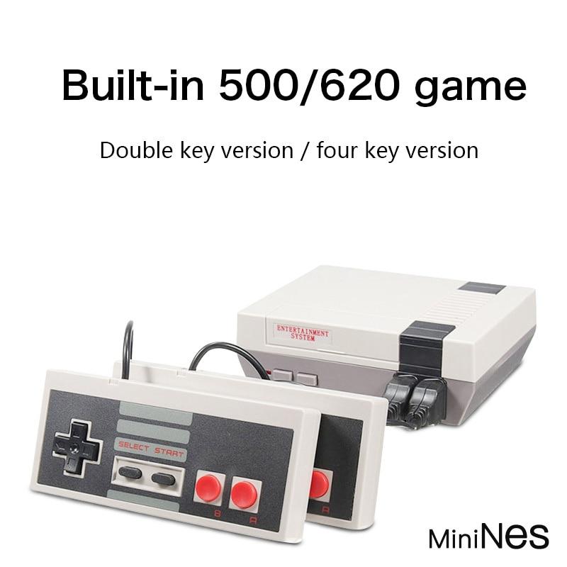 Mini TV Handheld Family Recreation Video Game Console AV Port Retro Built-in 620 Classic Games Dual Gamepad Gaming Player