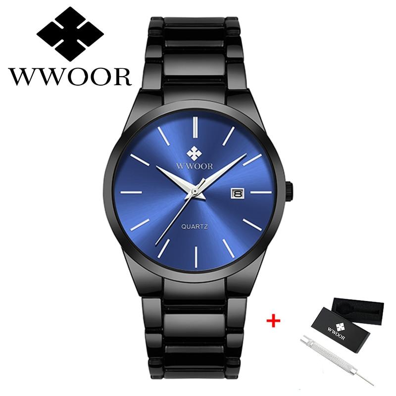 2021 New Fashion Watches For Men WWOOR Top Brand Luxury Waterproof Clock Sports Watches Mens Quartz Wristwatch Relogio Masculino