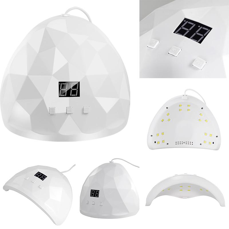 XZMUV 88W sèche-ongles UV ongles lampe pour manucure sèche ongles séchage Gel vernis à glace lampe 18 LED capteur automatique 60s 80s 99s Nail Art outil