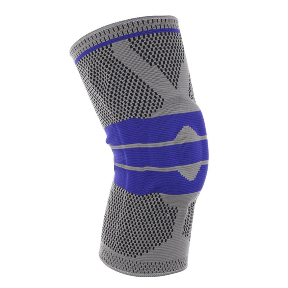 Knee Support Compression Silicone Kneepad Spring Knee Brace Strap Patella Medial Protector Meniscus Protection Sport Running Gym недорого