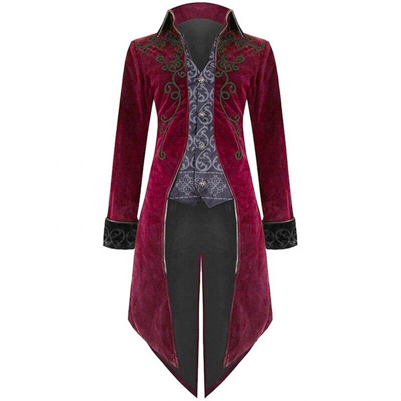 ¡Novedad de 2019! Abrigos estilo Retro Steampunk de lujo para hombre, traje de uniforme estilo gótico Punk para fiesta, prendas de vestir para hombre, abrigos de esmoquin
