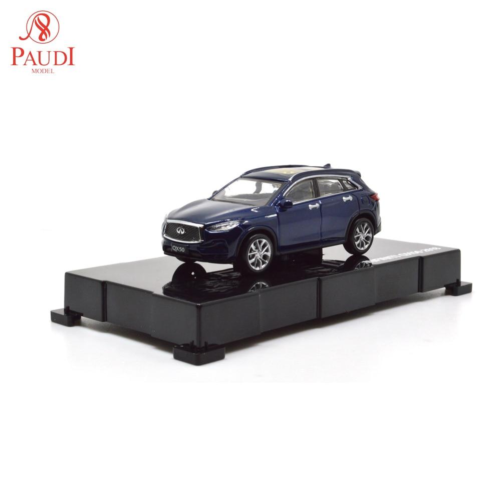 Paudi modelo 1/64 164 1 64 escala Infiniti QX50 azul 2018 Diecast juguetes de modelo de coche niños niñas regalos colecciones
