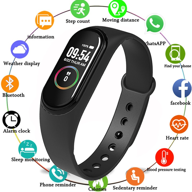 New M4 Smart Band 4 Fitness Tracker Watch Sport Bracelet Heart Rate Blood Pressure Smartband Monitor Health Wristband Smartwatch