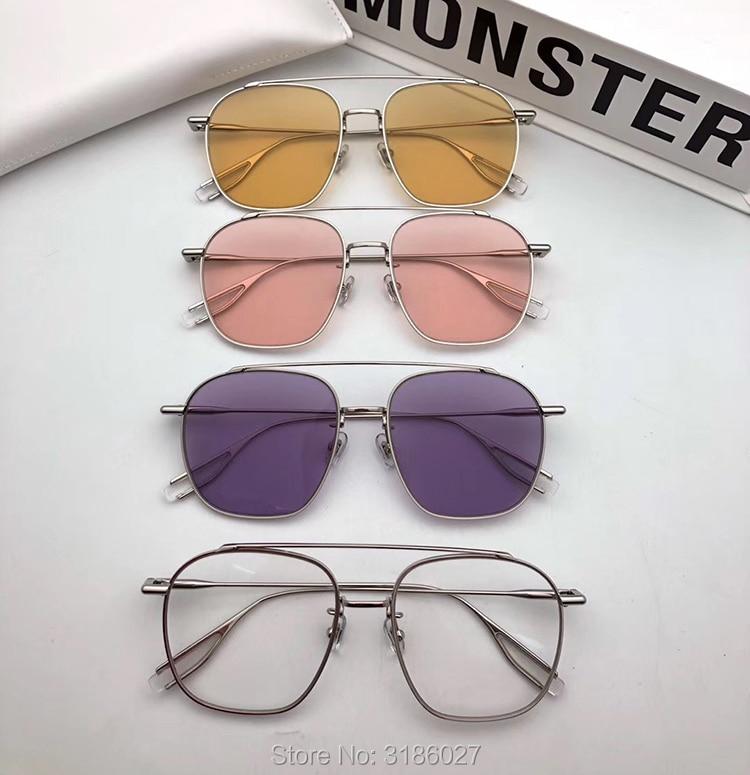 نظارات خمر النساء الرجال نظارة مستديرة إطار معدني لطيف العلامة التجارية مصمم Woogie ييويرس الرجعية الإناث نظارات شمسية الذكور