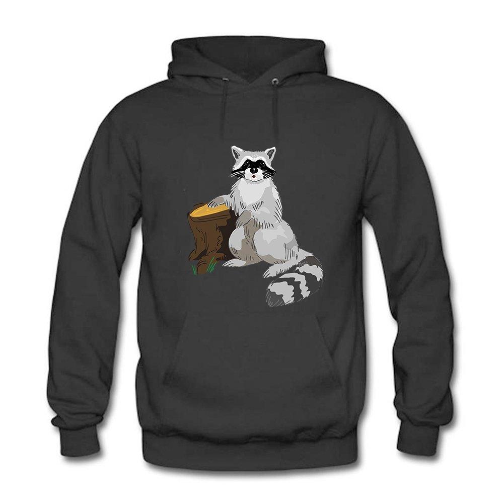 Sudadera con capucha xijia Pullover personalizado para hombre-diseño creativo lindo mapache gráfico estilo Casual Sudadera con capucha