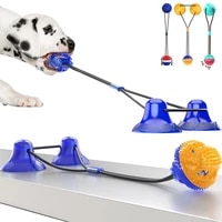 dog toys interactive ball funny chewing toys bite resistant clean dog teeth bite toy for a puppy suction cup balls pet supply