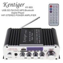 Amplificateur de puissance de voiture 12V 2CH HIFI   Bluetooth, Radio FM, Audio, lecteur de musique, Support SD, USB, MP3, entrée de voiture pour moto