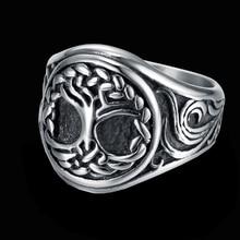 Natuur Boom Van Het Leven 316 Rvs Zegelring Mens Yggdrasil Viking Amulet Sieraden Familie Vriendschap Gift