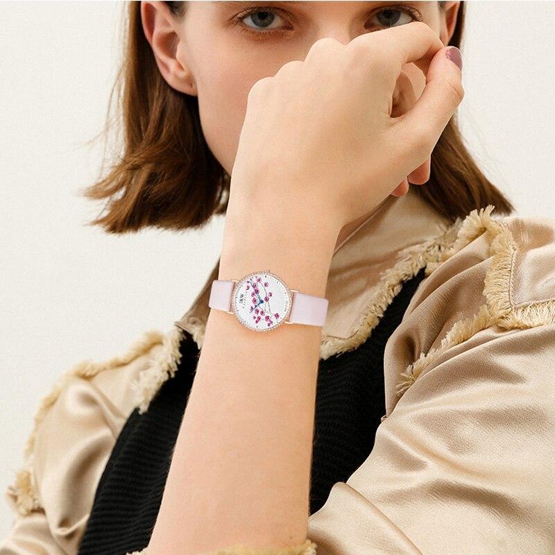 CARNIVAL Brand Ladies Fashion Rose Gold Watches Women Luxury Waterproof Ultra Thin Sapphire Quartz Wristwatches Relogio Feminino enlarge