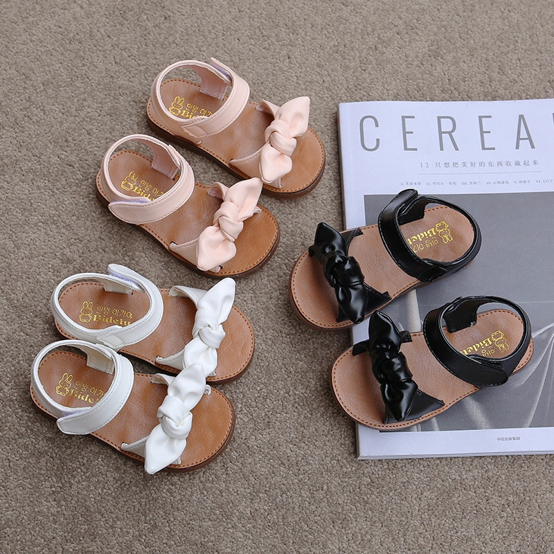 Girls Sandals Fashion Princess Classic Baby Girl Kids Summer Sandals Children Sweet Summer Shoes Soft 21-30 Hot Sale Bow-knot