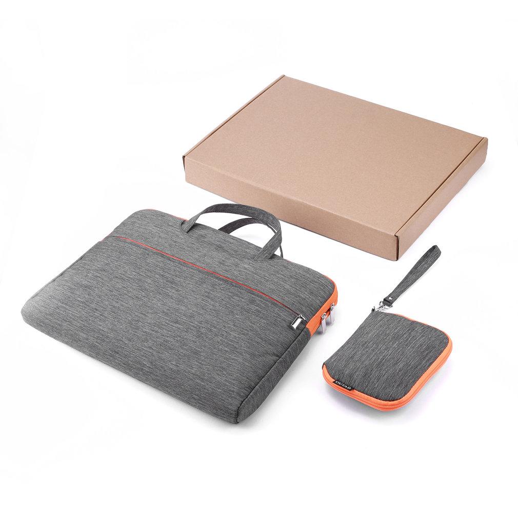 Oudad 15 pulgadas funda resistente al agua para ordenador portátil bolsa organizadora con accesorios bolsa para portátil para MacBook maletín a prueba de golpes