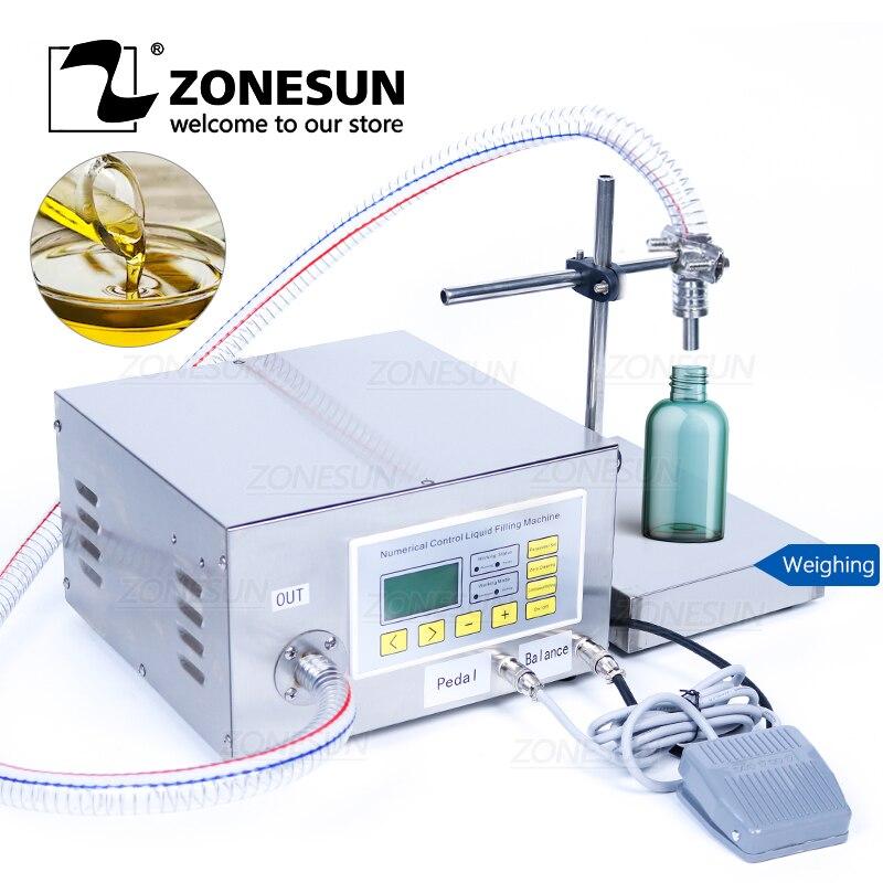 ZONESUN ZS-GP631 شبه التلقائي السائل ملء آلة واحدة رئيس التشحيم النفط من الضروري النفط المياه زجاجة حشو والعتاد مضخة