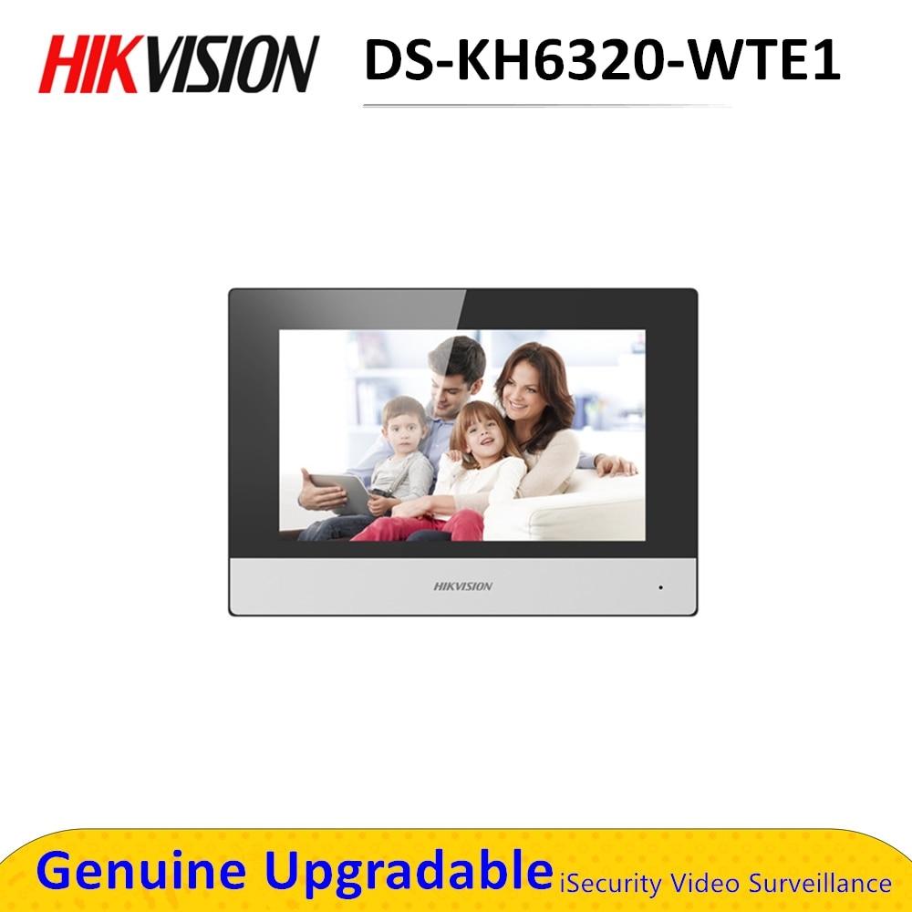 في المخزون الأصلي DS-KH6320-WTE1 7 بوصة واي فاي رصد داخلي بو ، لاسلكي فيديو إنترفون المدمج في مكبر الصوت والميكروفون