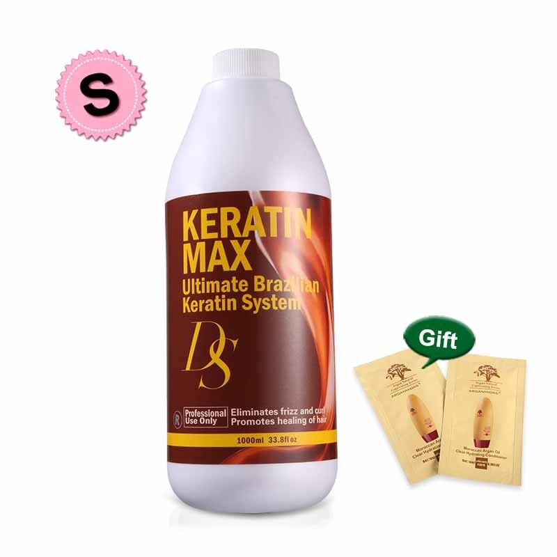 Tratamiento de reparación de queratina dañado 2 uds 1000ml DS Max Chocolate olor 1000ML 8% Formalin reparación cabello dañado y alisado del cabello