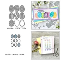 easter egg mix metal cutting dies for diy scrapbook album paper card decoration crafts embossing 2021 new dies