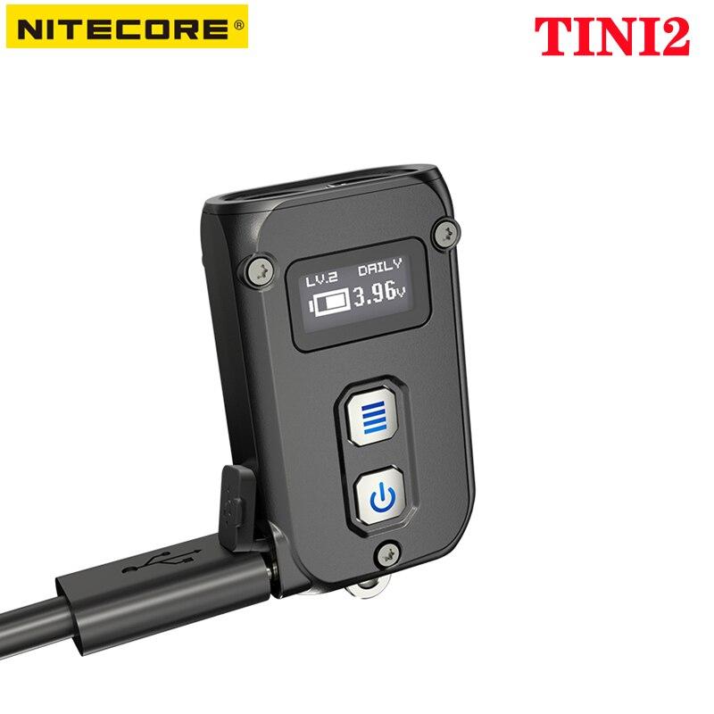 100% الأصلي NITECORE TINI2 مصباح يدوي 500 لومينز قابلة للشحن 5 أوضاع الإضاءة المزدوج الجانب التبديل عالية الطاقة سلسلة مفاتيح مضيئة