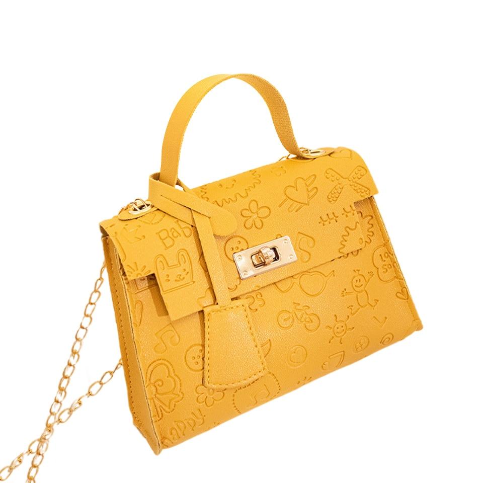 Mini Shoulder Bags For Women PU Leather Small Square Luxury Designer Handbag With Chain Fashion Solid Mini Crossbody Female Bag