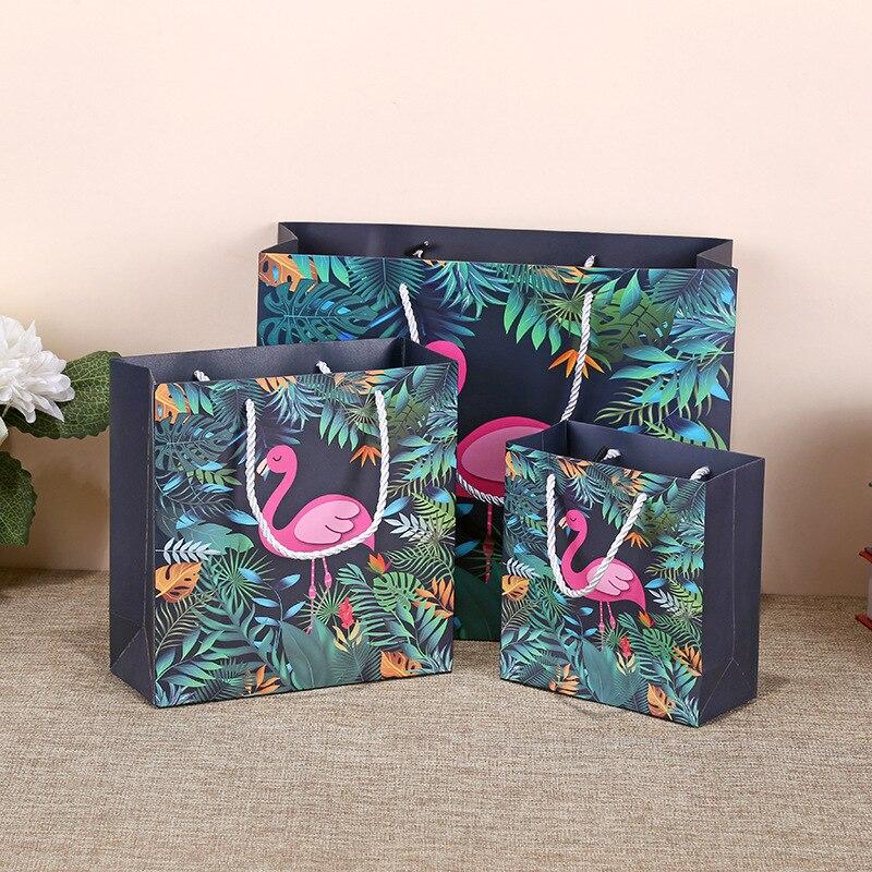 Bolsas de regalo con flamenco para ropa, cosméticos, embalaje bolsa de regalo...