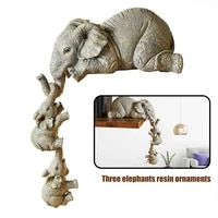 elephant resin ornaments elephant mothers babies handicraft sculpture resin decorative art statue for home living room office