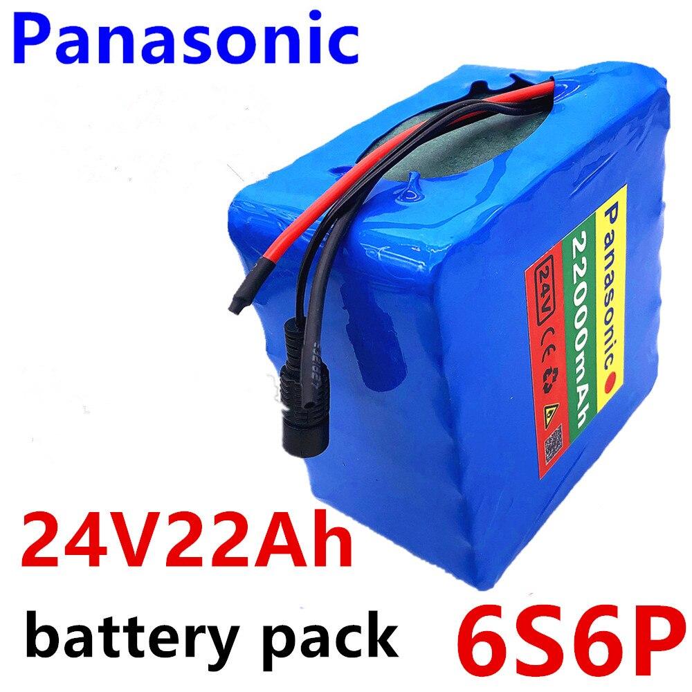 Paquete de baterías de litio Panasonic 6s6p 24v 22ah 25,2 v para motor eléctrico de bicicleta scooter ebike silla de ruedas cropper con bms