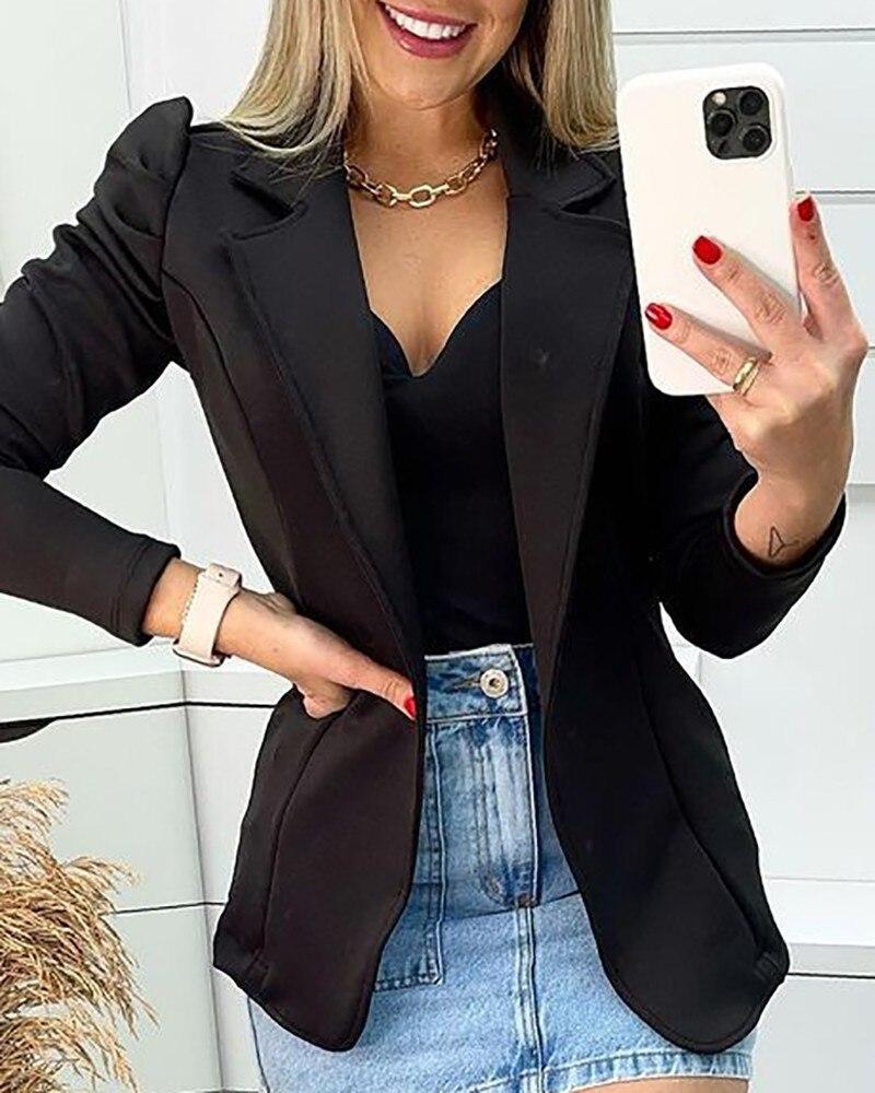 Женская куртка модная новинка 2021 на раннюю осень спортивная куртка с длинным рукавом с пушистыми рукавами Повседневное пальто однотонное