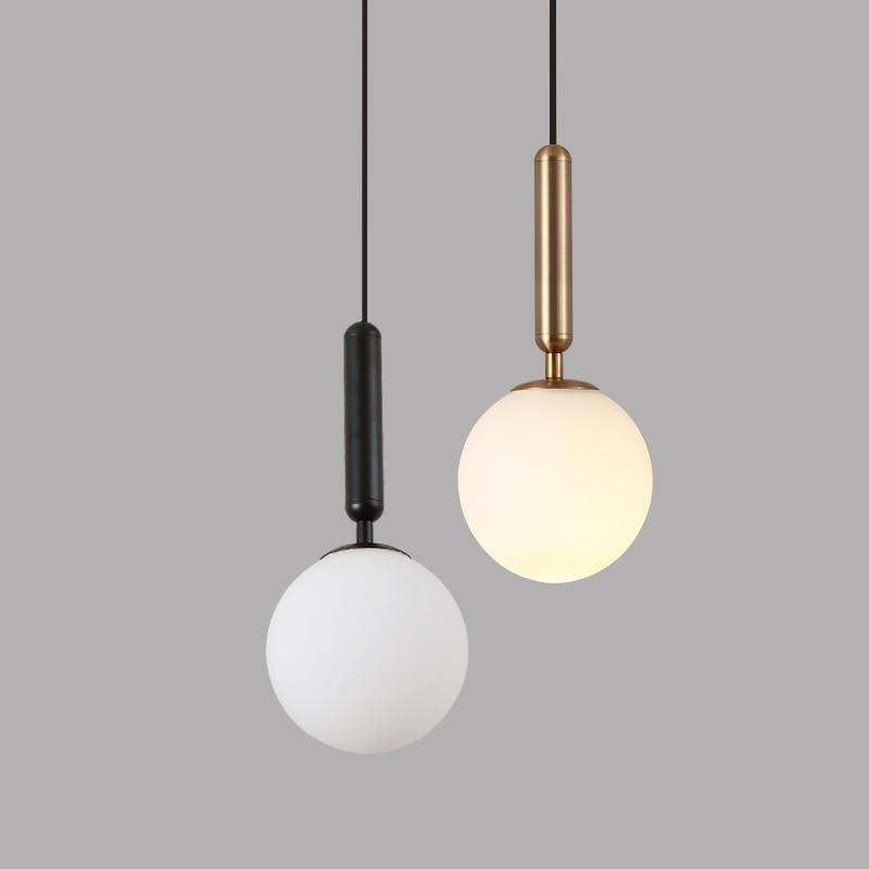 luminaria pendente moderna luminaria de teto luxuosa com bola de vidro dourada para