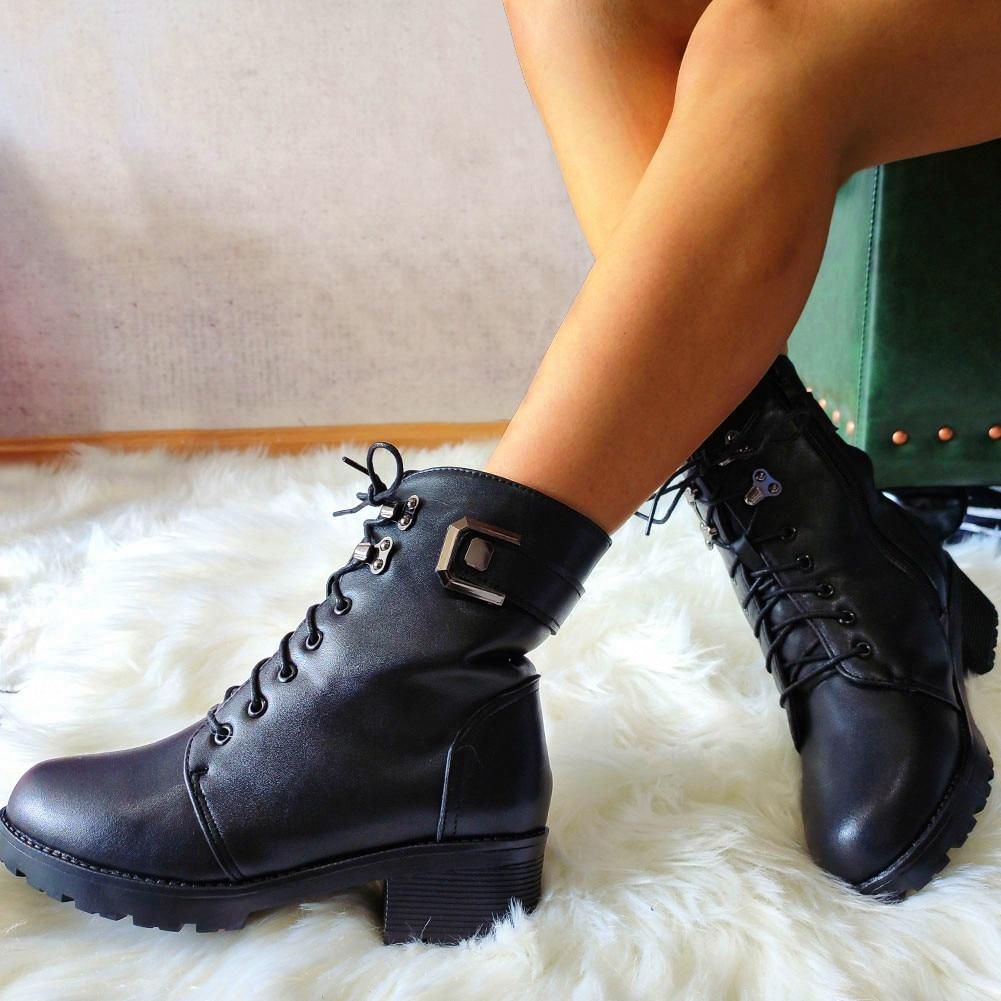 2020 tallas grandes 43 cuero genuino moda invierno piel caliente añadir lana de peluche botas de nieve zapatos mujer piel de vaca botines