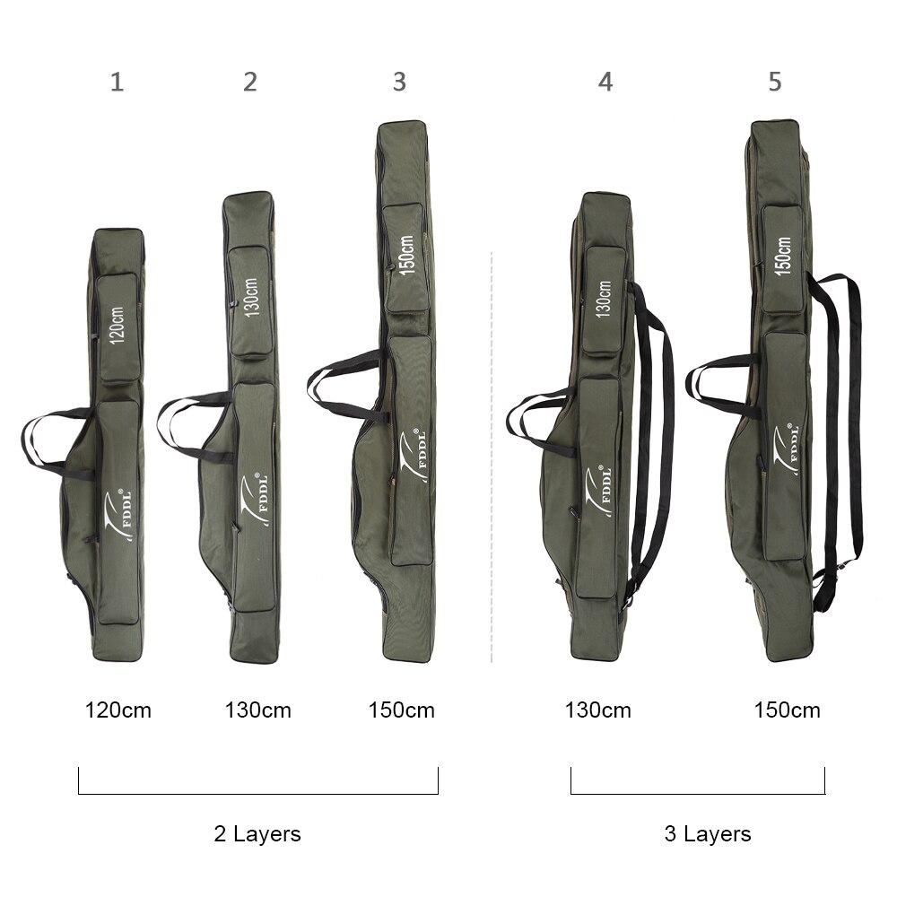 FDDL bolsas de pesca 120/130/150cm multifuncional sacos de caña de pescar caja bolsa de aparejos de pesca lona pesca Real equipo señuelo Polo herramienta