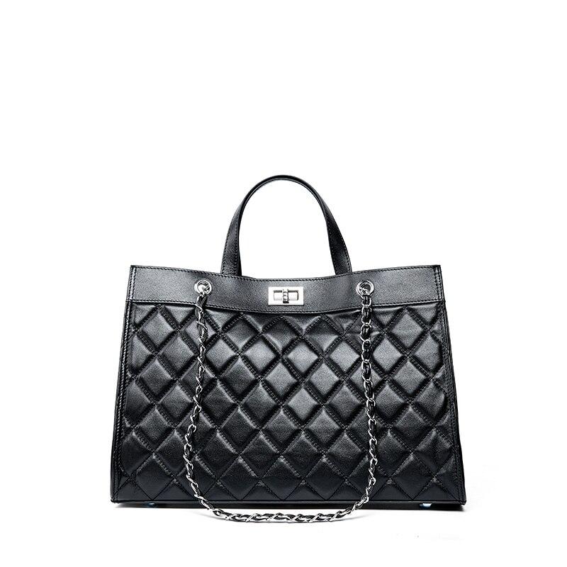 BINGCHEN Luxury Women 's Handbag Bags Top Quality Fashion Casual Plaid Chain Shoulder Bag Cowhie Classic Designer Designer Bag