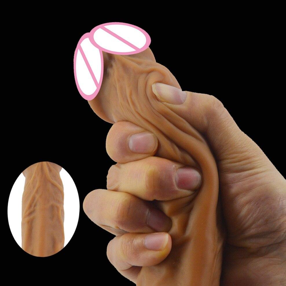 FAAK-قضيب سيليكون ناعم واقعي للنساء ، ملمس اصطناعي للبشرة الحقيقية ، قضيب شرجي أنثوي ، لعبة جنسية للاستمناء المهبلي
