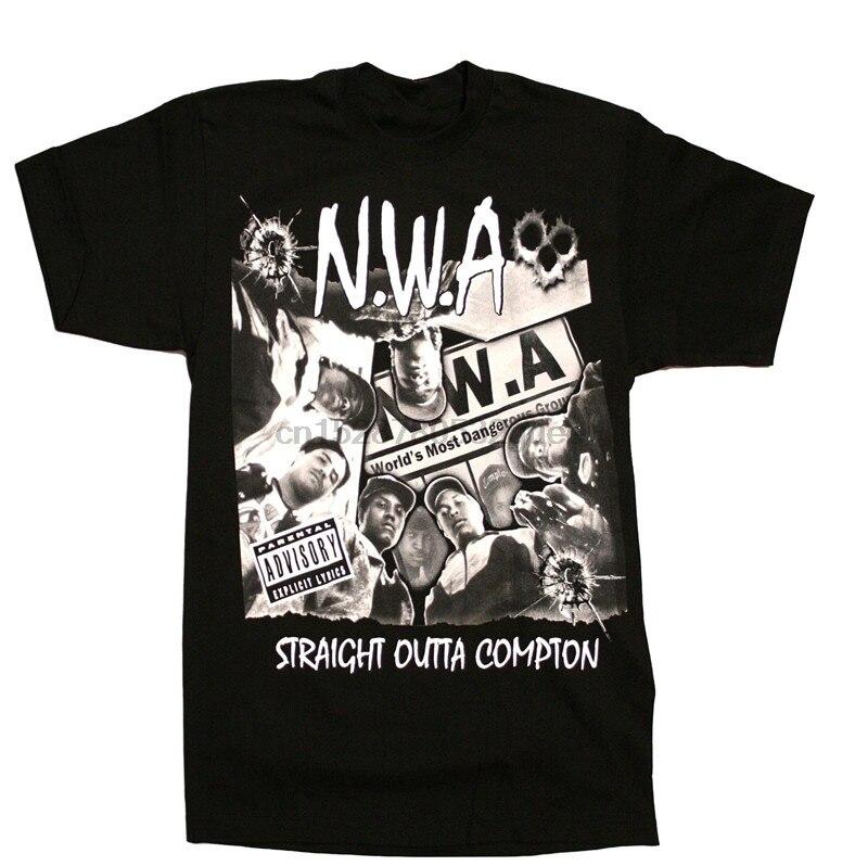 N W A мужская футболка хип хоп Рэп Nwa Dr Dre Eazy E Dj Yella Mc Ren черная хлопковая Футболка с принтом спереди европейский размер S 3Xl