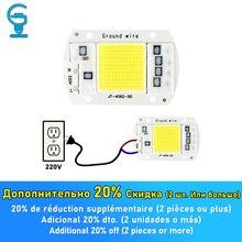Chip LED 10W 20W 30W 50W COB Chip LED Lampada 220V 240V nessun Driver necessario per luce di inondazione Spotlight Lampada illuminazione fai da te