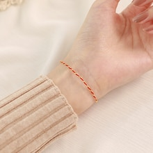 925 Sterling Silver Red Rope Bracelet Female Ins Special-Interest Design Couple Gift Pair Woven Qixi