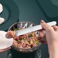 steel digging spoon household dumpling filling ruler picking wave design non slip pastry wonton tools accessories