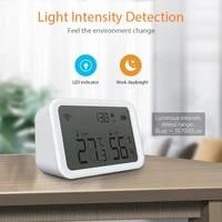 NEO     capteur de temperature et dhumidite intelligent Tuya ZigBee  pour maison connectee  avec ecran LED  fonctionne avec Google Assistant et Tuya Zigbee Hub