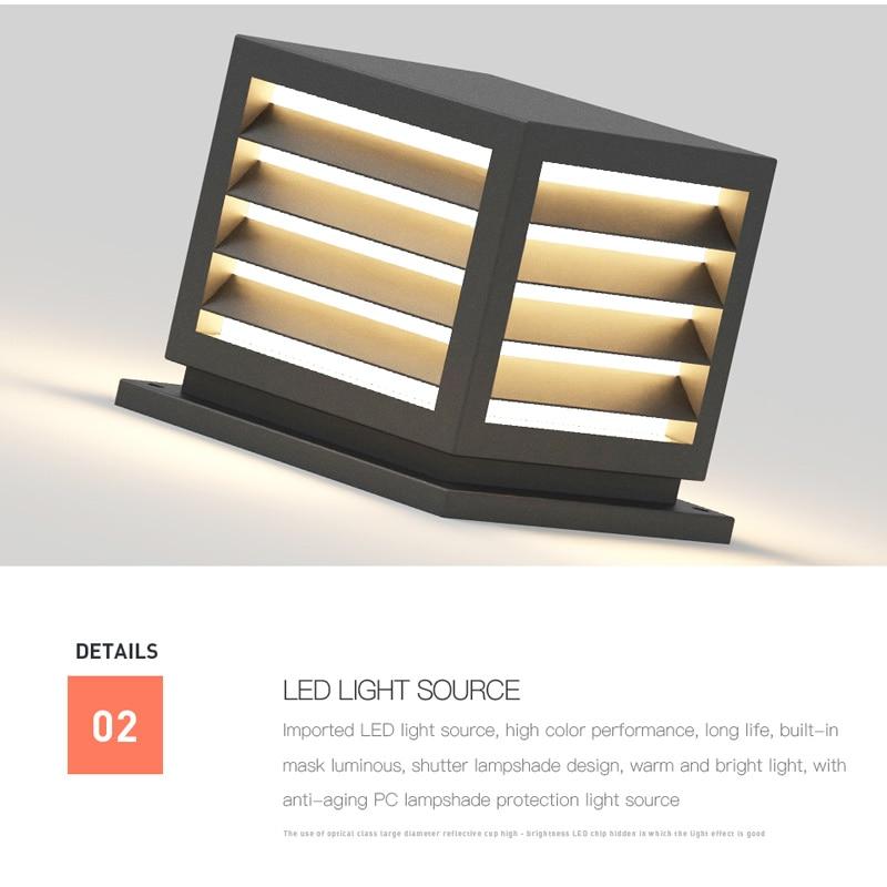 Modern solar LED courtyard lamp, landscape lamp, electric column, outdoor headlamp, courtyard waterproof street lamp. enlarge