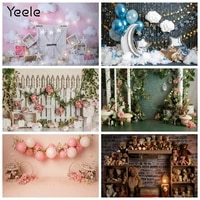 baby 1st birthday backdrop vinyl curtain flower balloon easter circus party bear moon photography background for photo studio