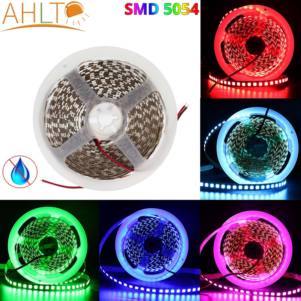 1Roll 5M SMD 5054 120LEDs/m 600Leds IP20 Waterproof Warm White Red Crystal Blue Flexible Led Strip DC 12V Bright Atmosphere lamp