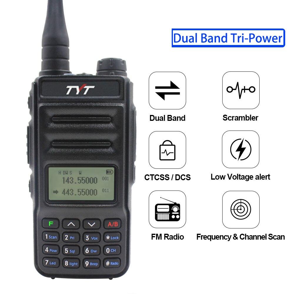 2PCS TYT TH-UV88 Talkie Walkie tyt dual band VOX Scrambler FM radio 136-174MHz & 400-480MHz UHF/VHF portable two way radio enlarge