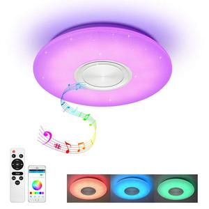 Modern LED RGB Ceiling Light Ceiling Lamp Starlight Music With Bluetooth Speaker Dimmable Colors Changing Light Bedroom Lights