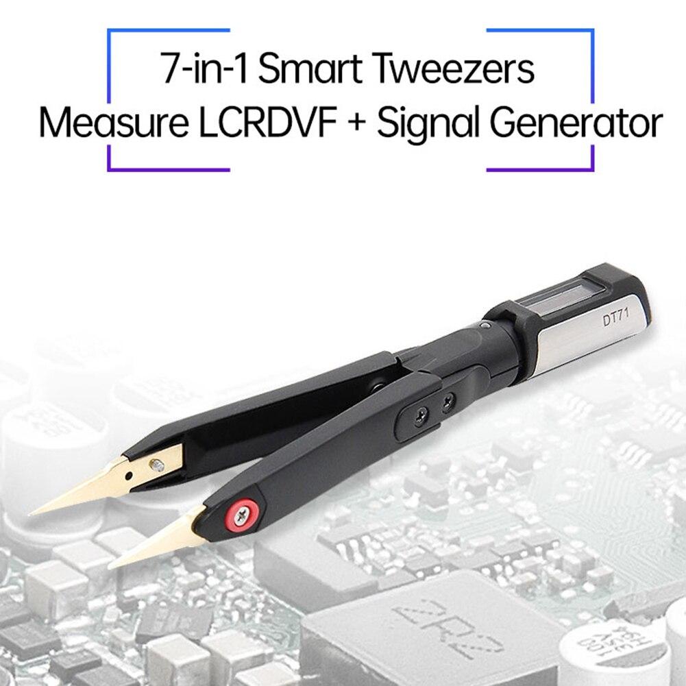 جهاز ملاقط ذكي رقمي صغير محمول جديد DT71 LCR أداة إصلاح مولد الإشارة مع شاشة OLED