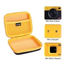 LTGEM Waterproof EVA Hard Case for Kodak Mini Shot 3 Retro Mini Shot 3 Squre/Mini Shot 3 Instant Cam