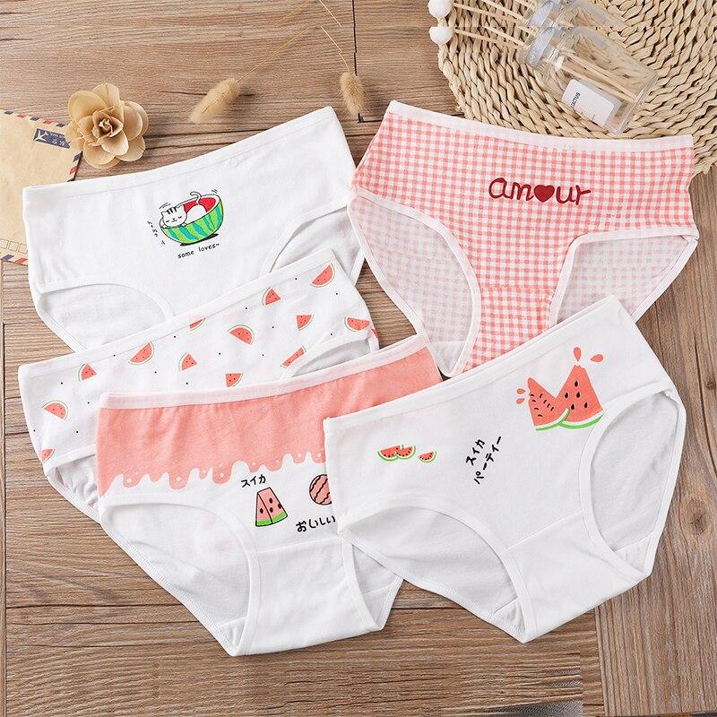 8-14 Yrs Kids Girls Cotton Briefs Children Underwear Panties Lovely Printing Underpants 5PCS/LOT