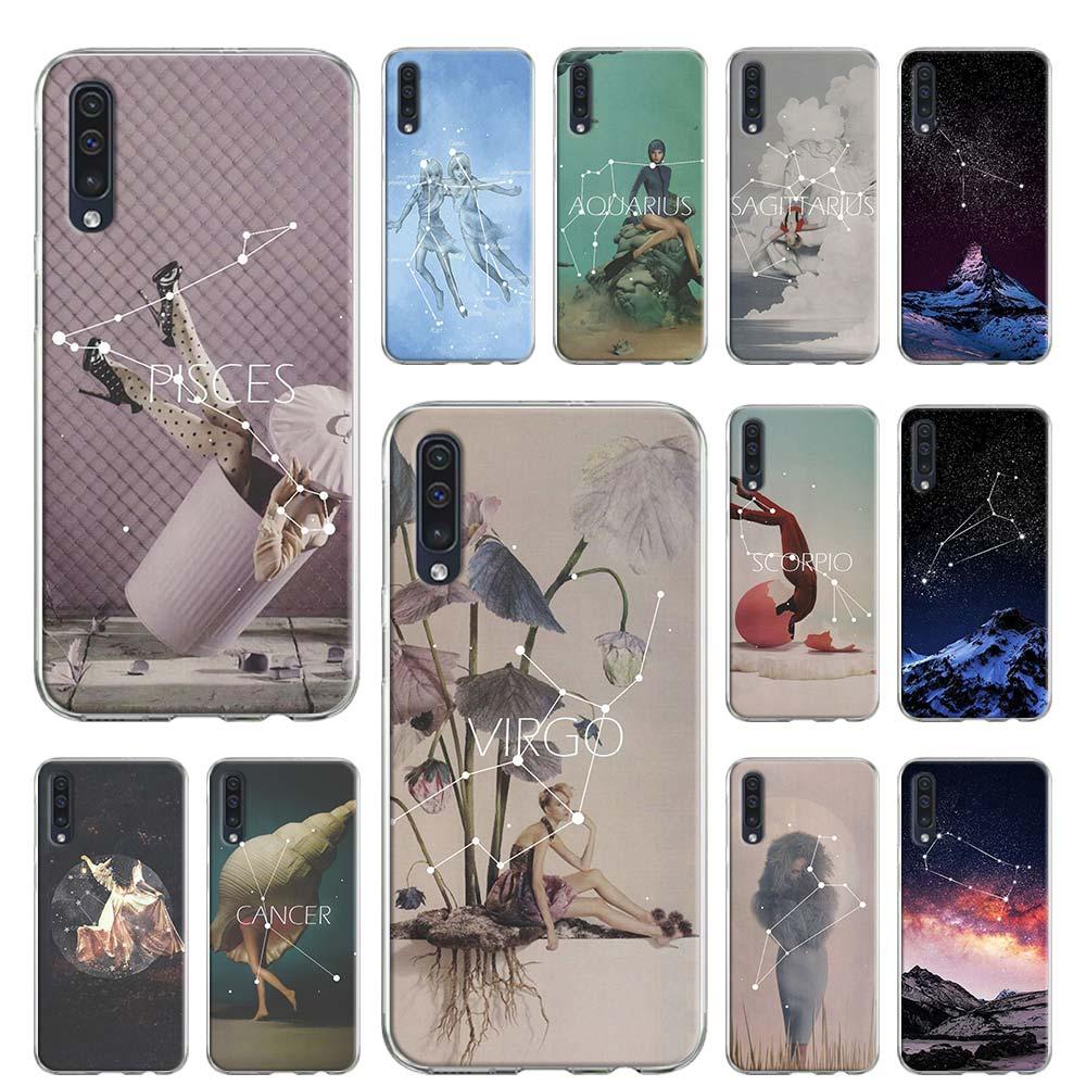 Мягкий чехол для Samsung Galaxy A51, чехол для Samsung Galaxy A51, A71, A50, A70, A10, A20, A30, A40, A11, A21, A31, A41, чехол с созвездием, Водолей, 2020 г., С.