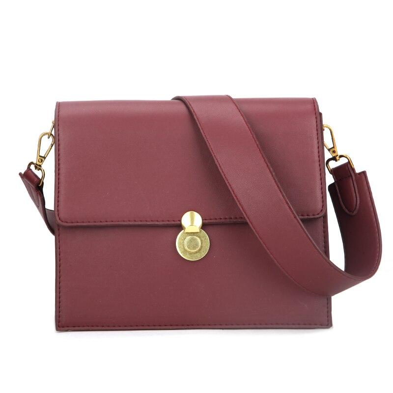 Bolso cuadrado femenino de moda Vintage 2019 nuevo bolso de cuero PU de alta calidad para mujer bolso de diseñador con cierre de hombro grande