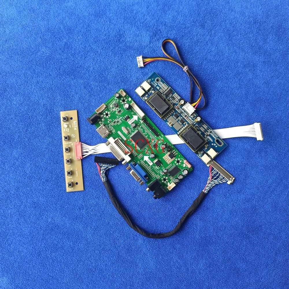 HDMI-متوافق VGA DVI شاشات كريستال بلورية م. NT68676 لوحة تحكم لتقوم بها بنفسك عدة 30 دبوس LVDS 1280*1024 ل LM181E04/LTM181E4/TM181SX 4CCFL