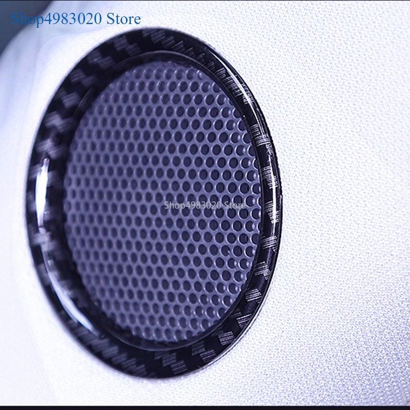 Couverture de style pour Mazda CX5   Autocollant de voiture, 2017 2018 2019, couverture de style, avant parler, haut parleur, son Audio, garniture cadre, lampe pièces de moulage 2 pièces